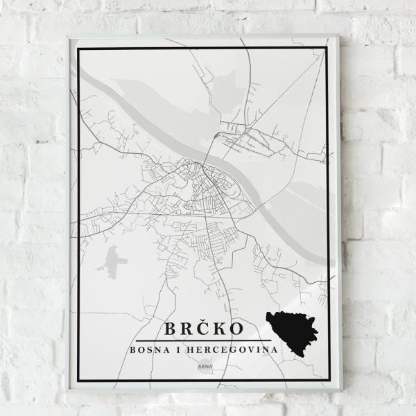 Mapa Brcko